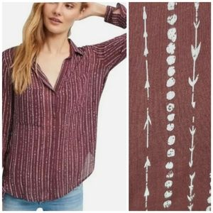 Cloth & Stone Anthropologie Kerry Blouse Shirt